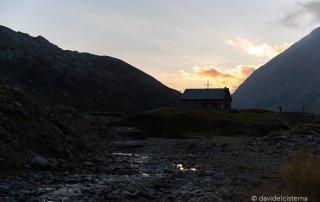 Rifugio Barbellino al tramonto
